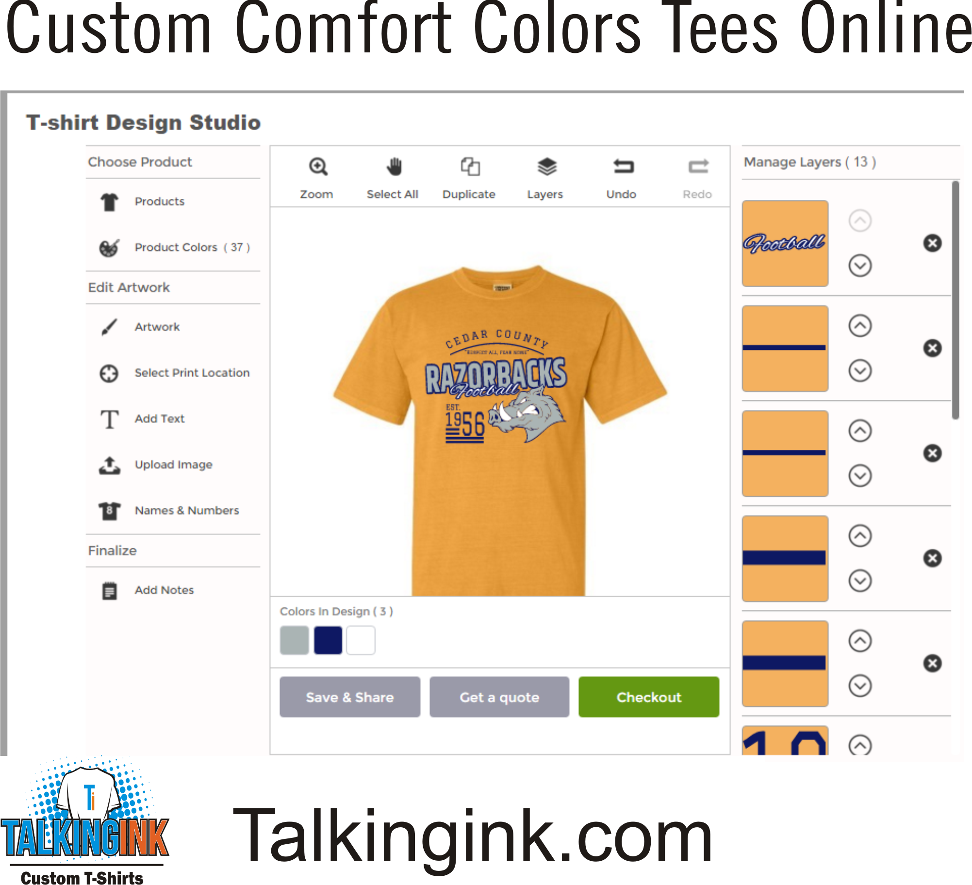 Custom Comfort Colors T-shirts Online