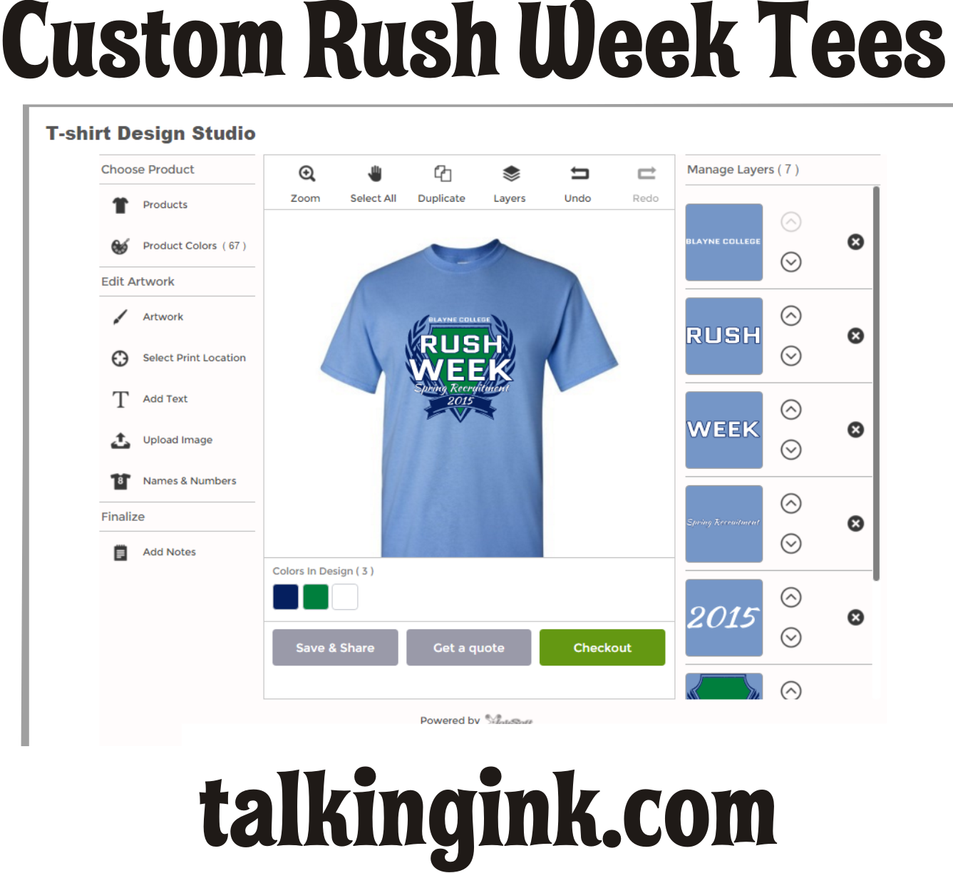 custom rush week tees