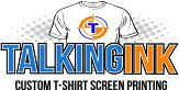 Talkingink custom t-shirt printing logo