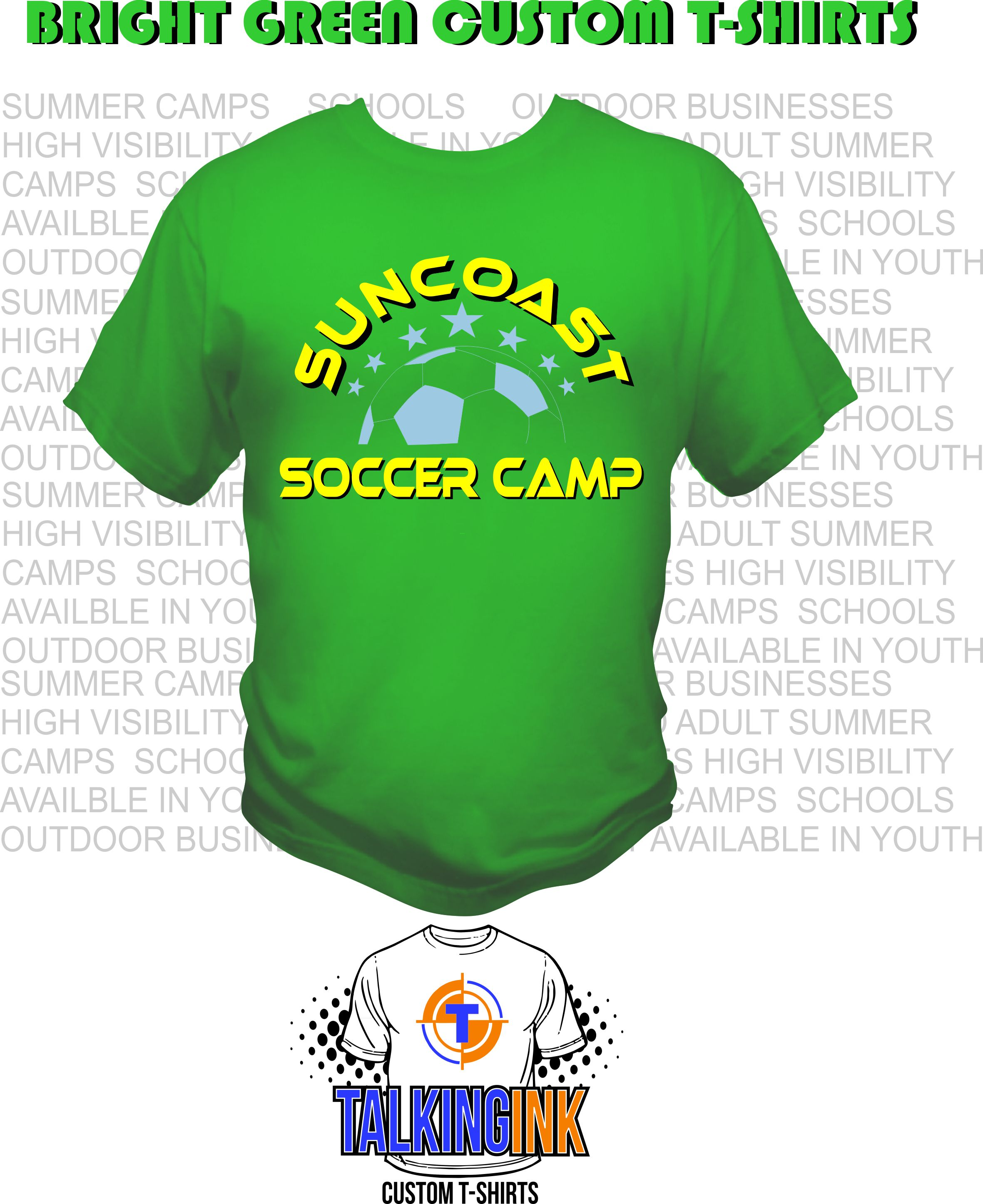 Bright Green Custom T-shirts