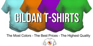 Custom printed Gildan T-shirts