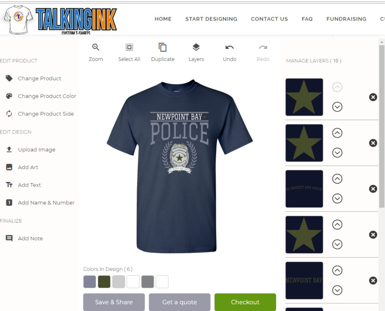 First Responders T-shirt Fundraising
