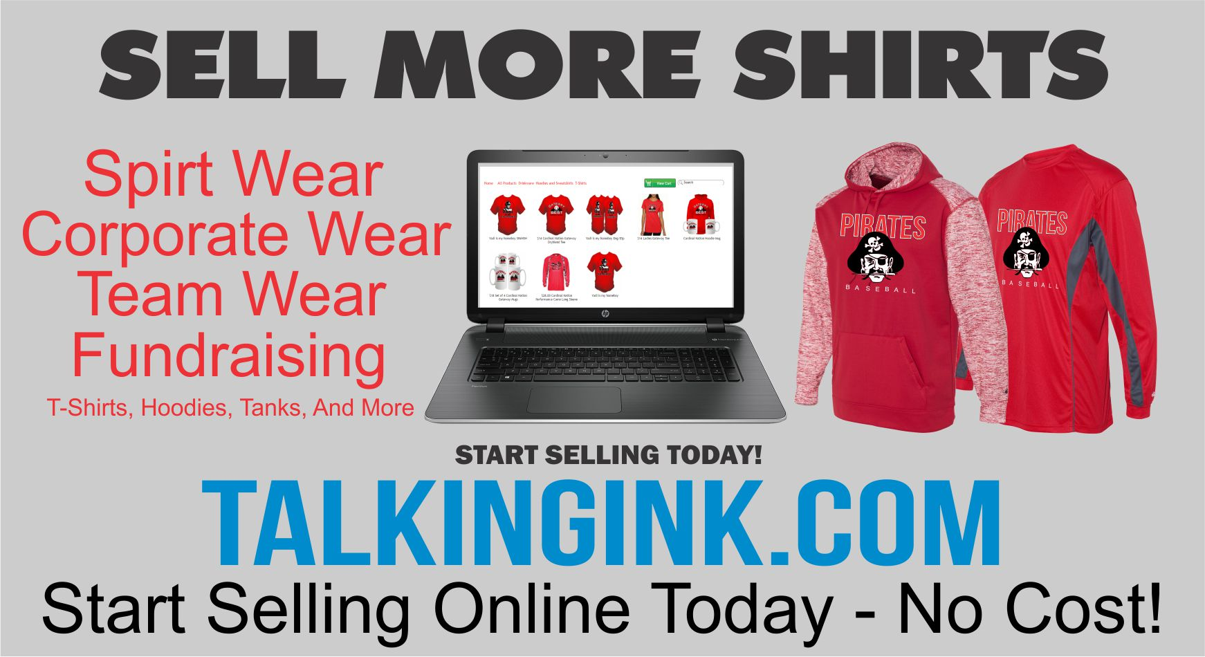 Sell more t-shirts online Talkingink