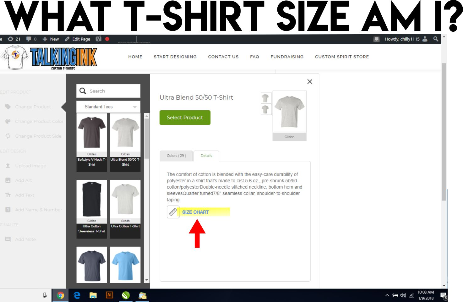 what t-shirt size am i