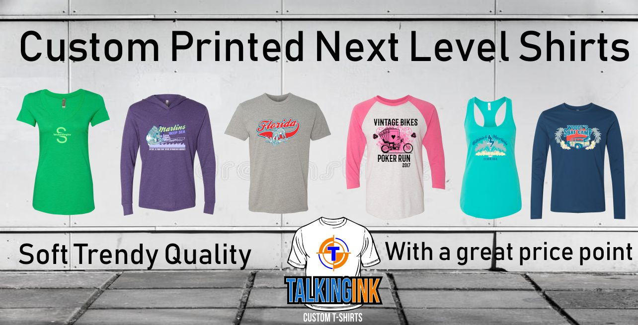 custom printed next level shirts