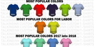 popular custom t-shirt colors